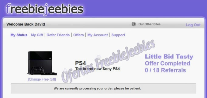 playstation 4 freebiejeebies ganha ganhar graça free order win ps4 amazon