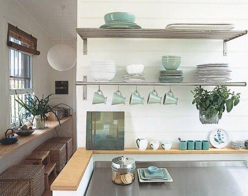 IKEA Kitchen Shelves Stainless Steel
