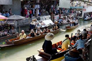Damnoensaduak - Paket Tour 3H2M Bangkok Floating Market