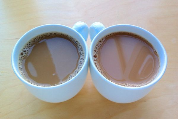 Soya Milk from Delamere Dairy in coffee and tea