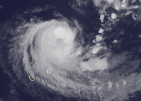 Tropischer Sturm IMELDA potentielle Gefahr für Mauritius und La Reunion, Imelda, aktuell, Satellitenbild Satellitenbilder, 2013, April, Indischer Ozean Indik, Zyklonsaison Südwest-Indik 2012 2013, Mauritius,