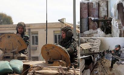 Δειλοί άντρες λιποτάκτες και γενναίες Σύριες Πολεμίστριες!