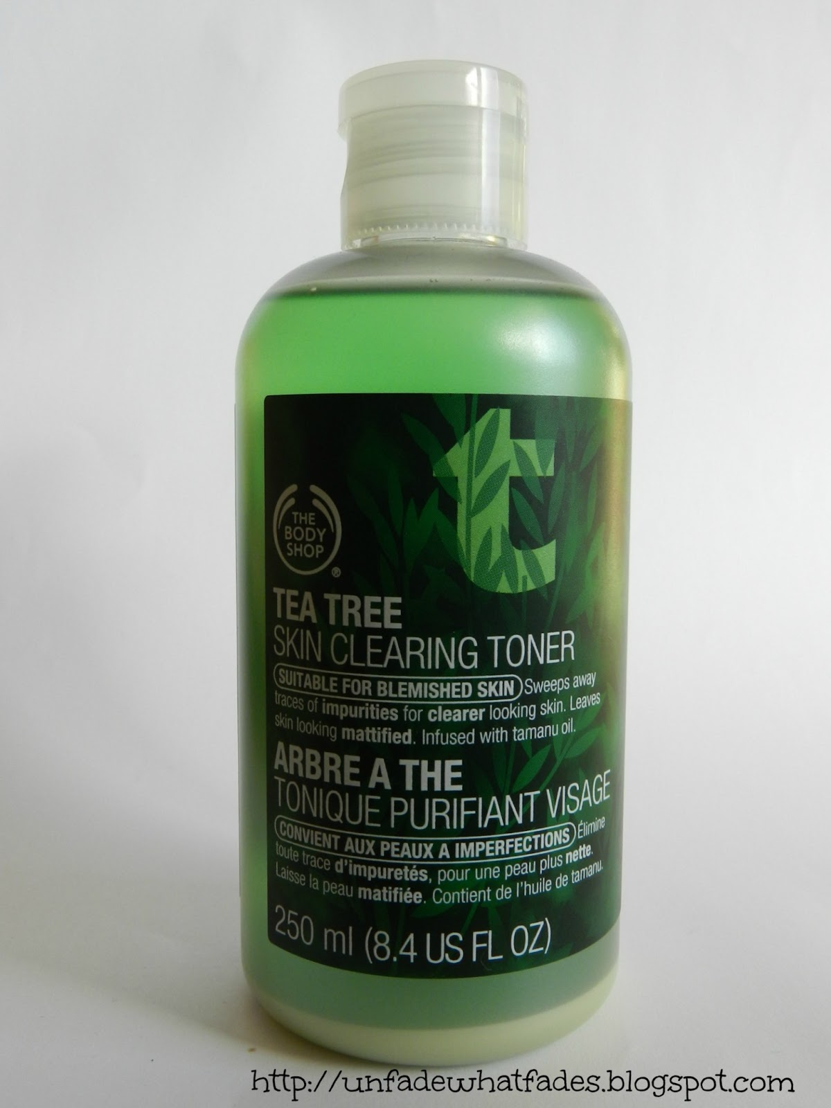 Unfade What Fades The Body Shop Tea Tree Clearing Toner