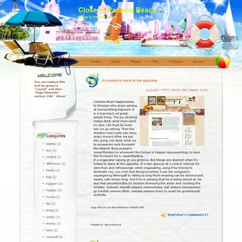Close to Panama Beach Blogger Template. free download template blogspot