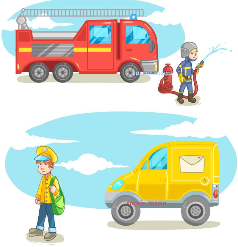 pompier et postier