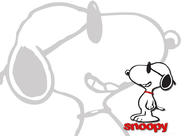 Wallpaper Snoopy MInimalista