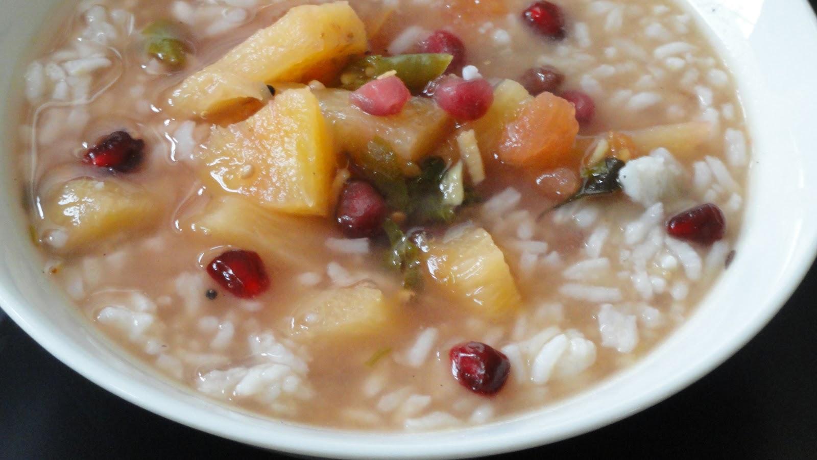 Peek into My Kitchen: Pomegranate ~ Pineapple Rasam / Lentil Soup