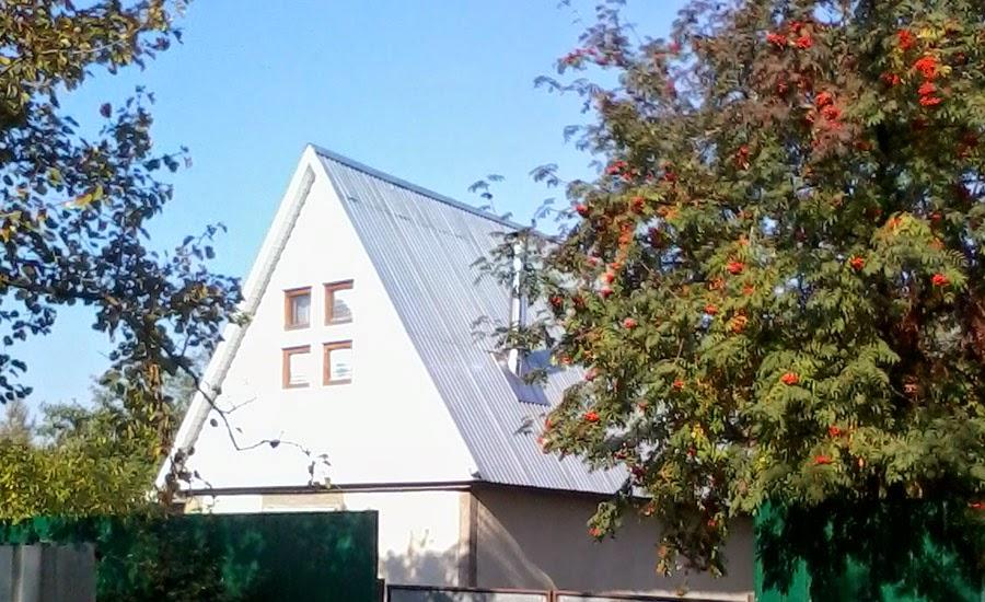 Крыша из профнастила пример
