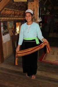 A Mường ethnic minority girl in Bản Mỗ village