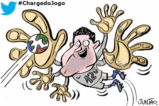 Júlio César, Brasil, Chile, Junião, Cartoon