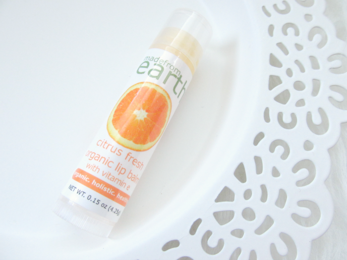 Review: made from earth Citrus Fresh Lip Balm - 0.15oz. - $4.99