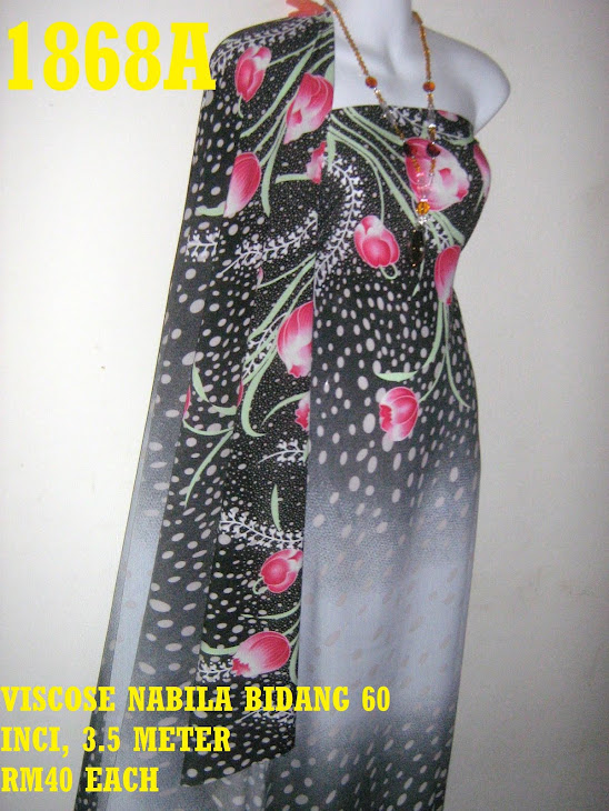 VN 1868A: VISCOSE NABILA BIDANG 60 INCI, 3.5 METER