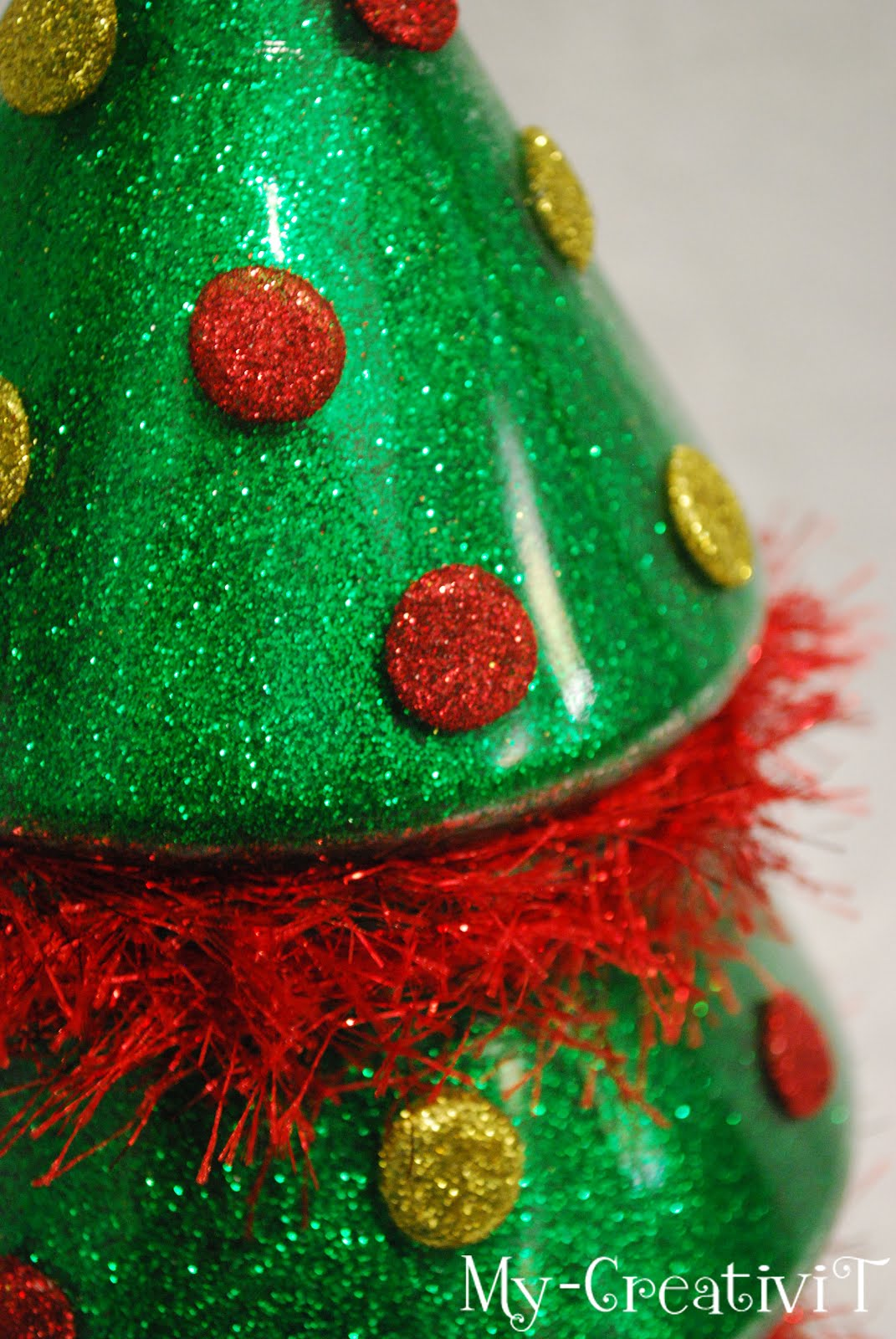 My creativit diy glitter christmas tree