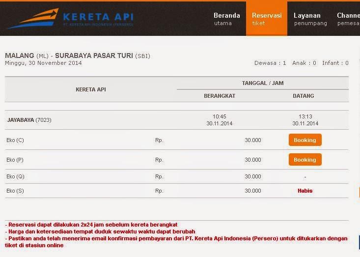 Promo Tiket Kereta Api Jayabaya Malang Surabaya