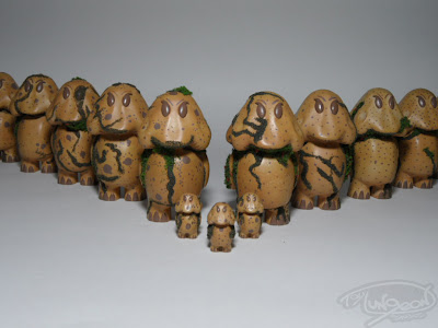The Earth-Tone Forest Wanderer Sproglit Resin Figures by Toy Dungeon Studios