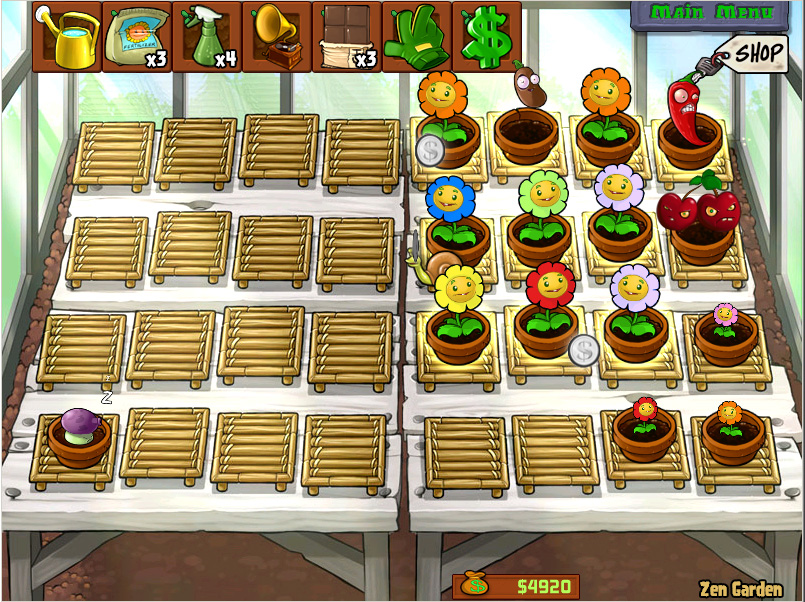 Bolinho de arroz de jogar jogos cute plants vs zombies for Jardin zen plantas vs zombies