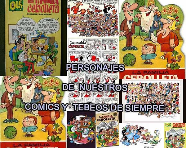PERSONAJES DE NUESTROS CÓMICS Y TEBEOS DE SIEMPRE.