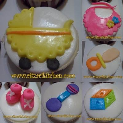 baby theme cupcake