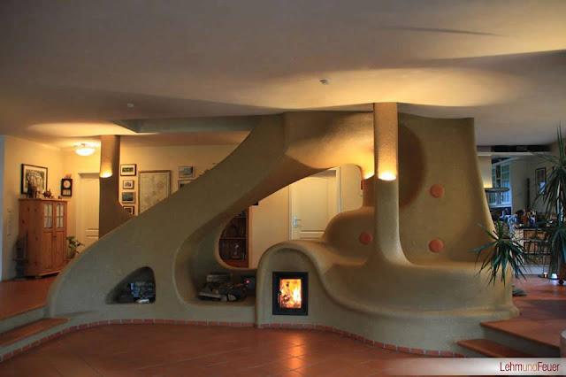 Arquitectura de casas chimeneas decorativas de formas - Modelos de chimeneas decorativas ...