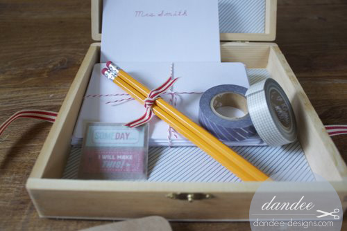 packaging the elements sweetly with pretty ribbon and bakers twine adds the perfect finishing touch