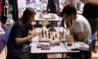 Échecs à Avoine - ronde 4 : Maxime Lagarde (2505) 1/2 Tatiana Kostiuk (2327) - Photo © Chess & Strategy