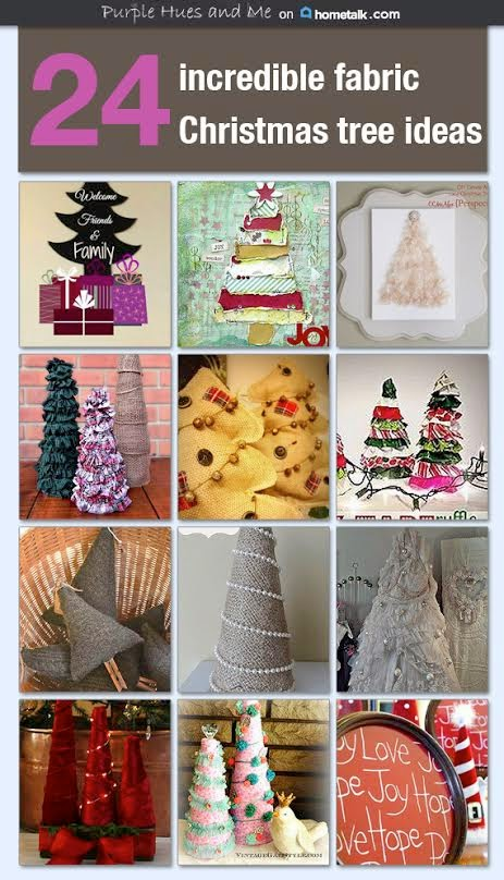 http://www.hometalk.com/b/4775915/fabric-christmas-trees