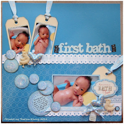 how to give baby first bath