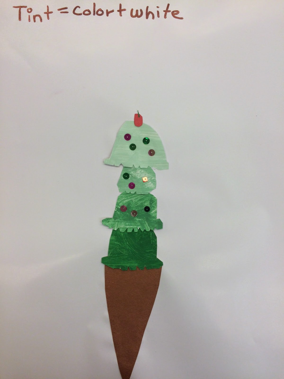 The Art Studio at Cooper Dual Language Academy: Ice Cream Cone Tints