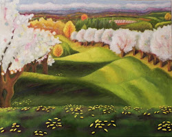 Suttons Bay Cherry Blossom Oil Painting