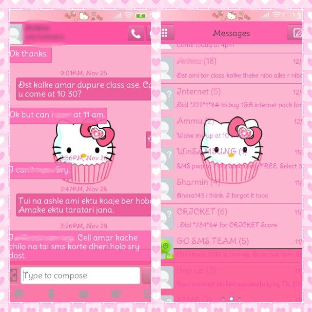 Hello Kitty Kaboo Go Sms Theme