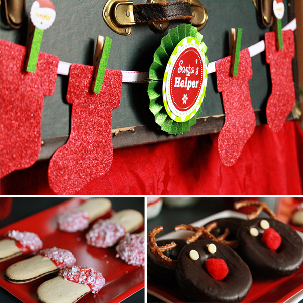 Kids Christmas Party Ideas Part - 49: ... Plates U2013 Christmas Tree Shop Polka Dot Favor Boxes, Straws And Cupcake  Liners U2013 The Bakers Confection Glittery Stockings And Hot Coco Tin U2013 Target