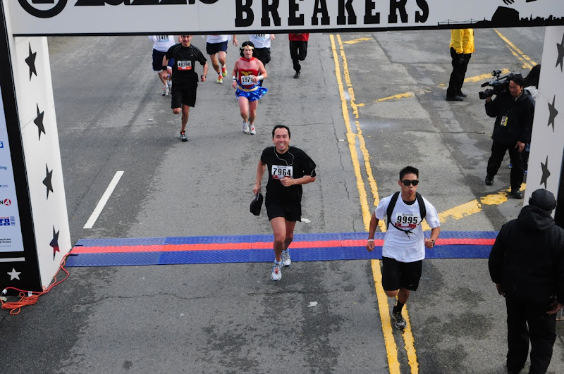 Wonder Woman Bay to Breakers finish