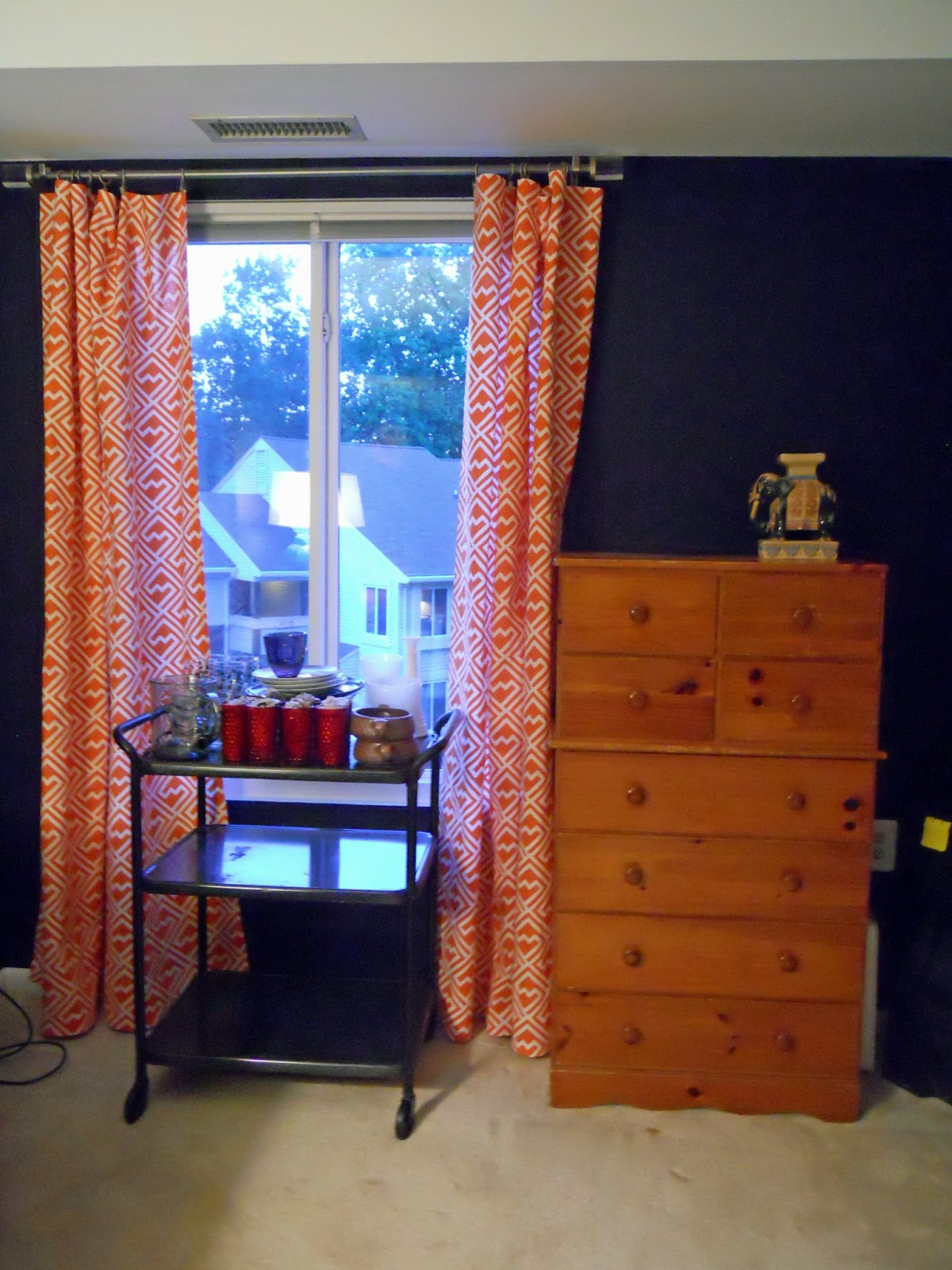 Pies And Puggles Office Makeover Diy No Sew Curtains