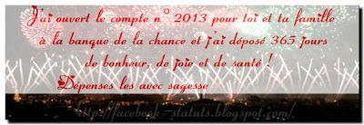 Statut facebook pour la nouvelle année