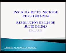 INSTRUCCIONES INICIO DE CURSO 2013-2014