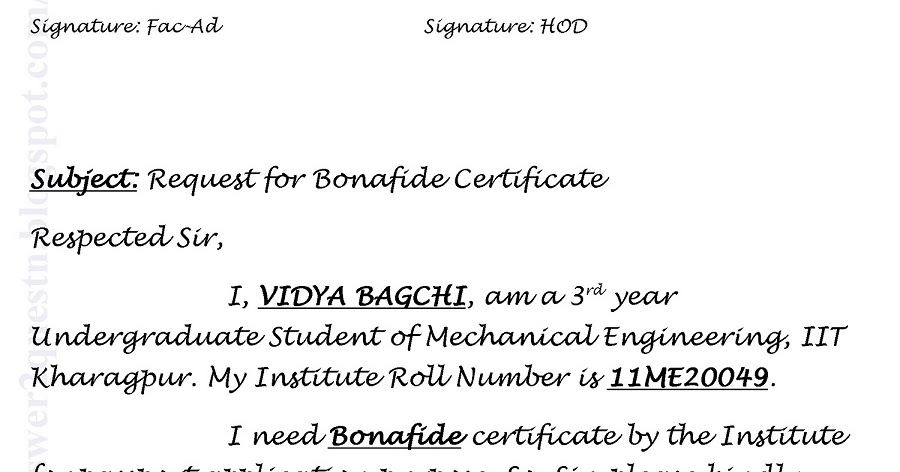 Questions answers sample application for bonafide certificate questions answers sample application for bonafide certificate iit kharagpur yadclub Gallery