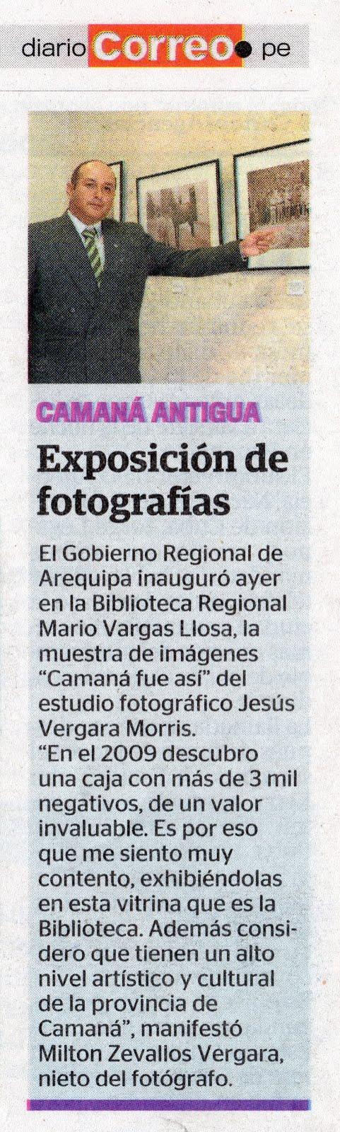 Diario Correo. 11 de abril 2015