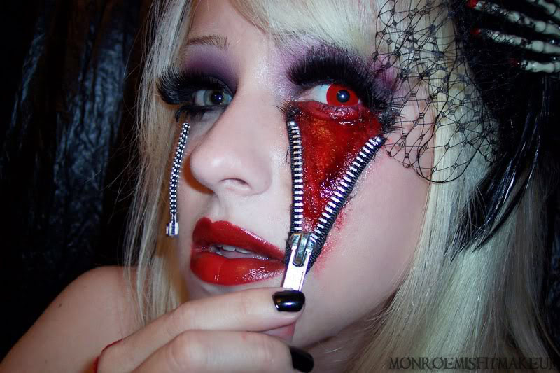 Monroe Misfit Makeup Beauty Blog Halloween Makeup