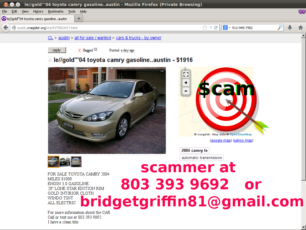 Autotrader mitula olx and everywhere else too scam