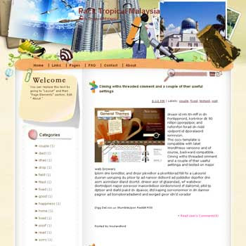 Pack Tropical Malaysia Blogger Template. free download template blogspot