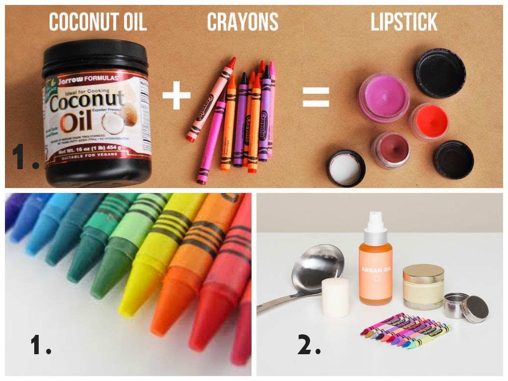 Just Crayons and Coconut Oil