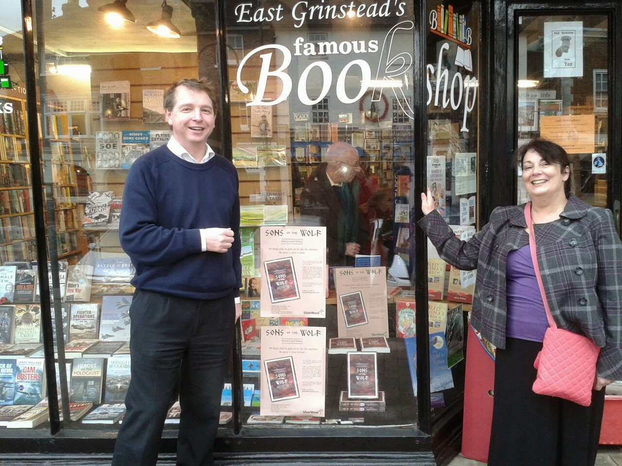 Me the author with John Pye, Independent book shop owner
