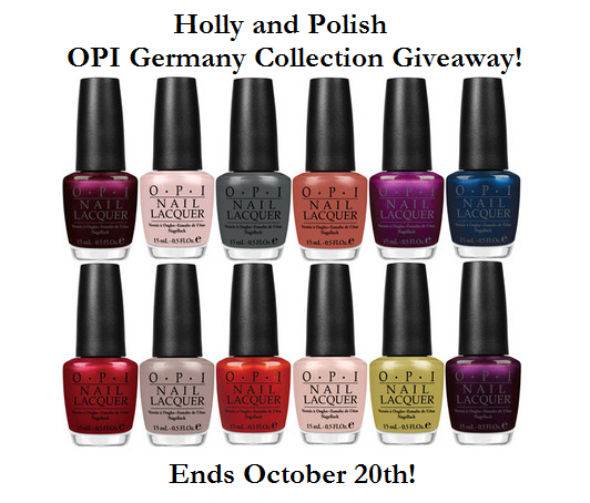 Holly and Polish's OPI Germany Collection Giveaway!