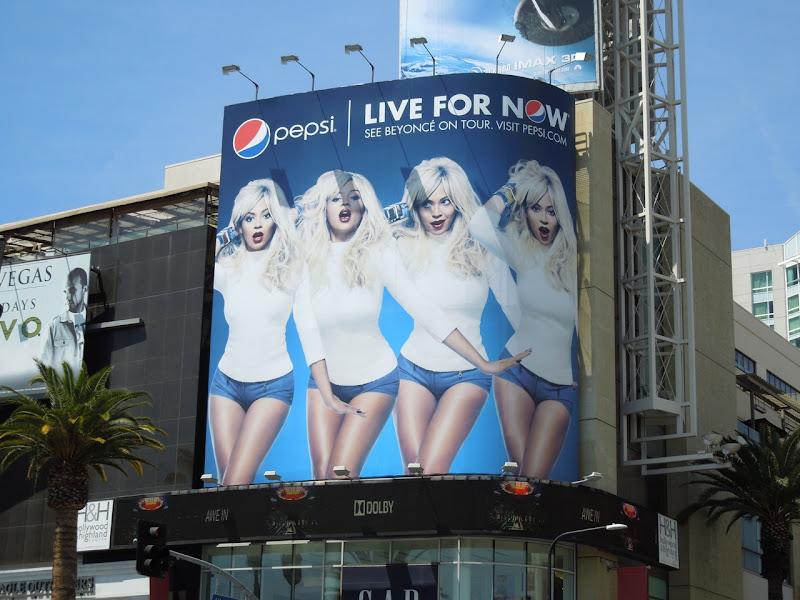 Beyonce Pepsi Live for Now billboard