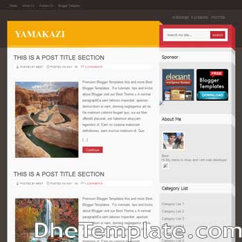 Yamakazi blogger template.wordpress theme to blogspot template