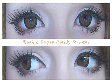 Barbie Sugar Candy Brown colored contacts