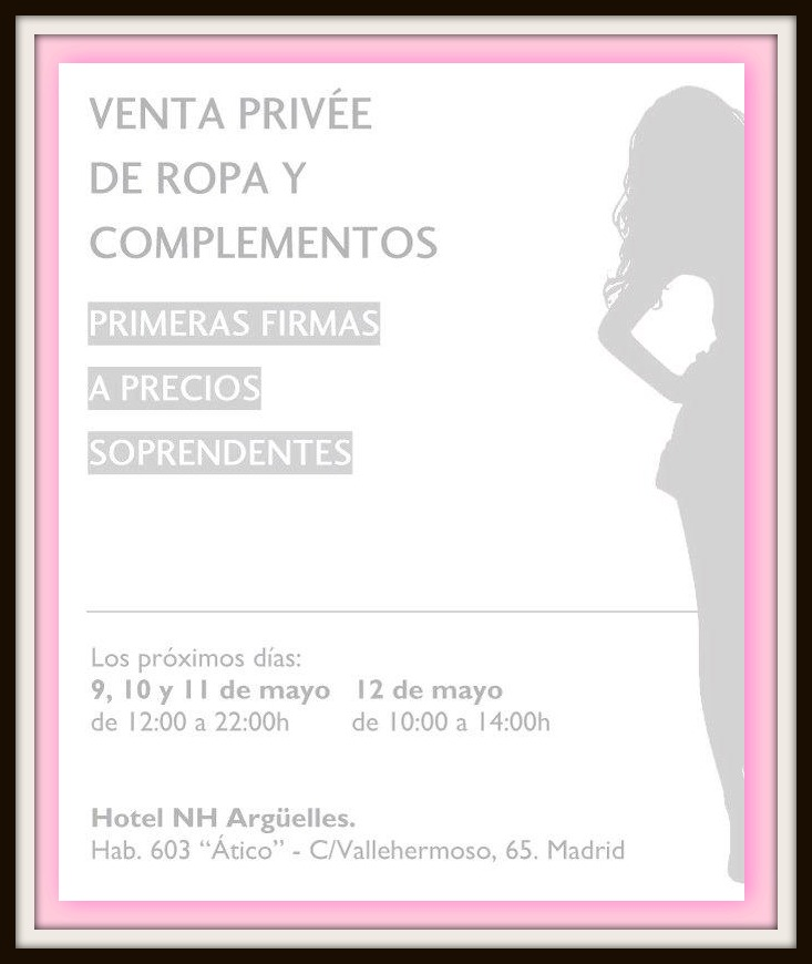 Venta privee de primeras marcas. Hotel NH Argüelles