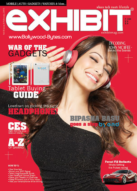 Bipasha Basu Cover Exhibit Magazine February 
