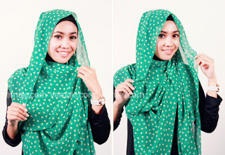 Cara Memakai Hijab Pashmina Chiffon Praktis