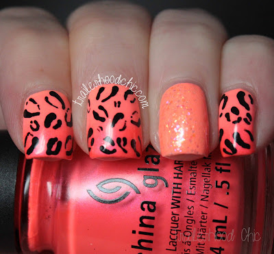 peach coral gradient leopard print fresh paint guava china glaze surfin for the boys flip flop fantasy color club call of the disco ball